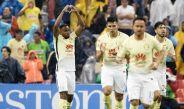 William Da Silva festeja su gol contra Pumas