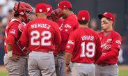 Diablos Rojos del México, en un partido de la MLB
