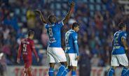 Joffre Guerrón festeja su gol contra Mineros