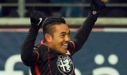 Fabián celebra un gol con el Eintracht