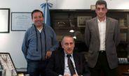 Guillermo Marconi y Sergio Pezzotta posan para foto