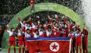 Las jugadoras de Corea del Norte celebran el título del Mundial Sub 17 Femenil