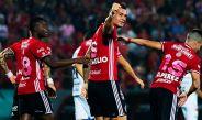 Caraglio celebra el gol del triunfo contra Jaguares