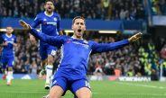 Hazard festeja su golazo frente al Man United en Stamford Bridge