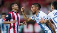 Jara celebra su gol frente a Chivas