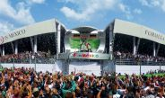 Ceremonia de premiación del GP de México 2016