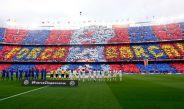 Así lució el espectacular mosaico en las gradas del Camp Nou