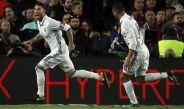 Ramos festeja su anotación en Camp Nou