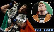 McGregor presume sus dos campeonatos de UFC
