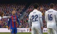 Jordi Alba insulta a Kovacic en el Clásico español