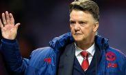 Van Gaal en un partido del Manchester United
