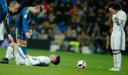 Jugadores del Madrid, durante un duelo contra Celta de Vigo