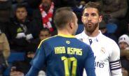 Ramos escupe a Iago durante duelo de la Copa del Rey