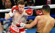 Saúl 'Canelo' Álvarez castiga a su oponente en una pelea