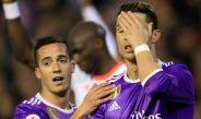 Cristiano Ronaldo se lamenta por el resultado contra el Valencia