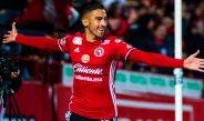 Juan Martín Lucero celebra su gol frente a los Rayados