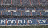 Santiago Bernabéu en plena nevada