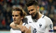 Antoine Griezmann celebra un gol con la selección de Francia