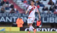 Tomás Andrade, durante partido de River Plate