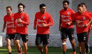 Selección de Chile, durante entrenamiento previo a juego de eliminatoria