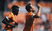 Cubo Torres festeja su gol frente al Earthquakes en la MLS
