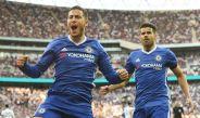 Eden Hazard festeja su gol contra Tottenham