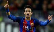 Neymar, durante el juego entre Barça y la Juventus en la Champions