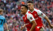 Alexis Sánchez festeja el gol de la victoria frente al Manchester City