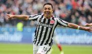 Marco festeja tras marcar en la Bundesliga