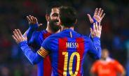 Lionel Messi celebra un gol contra el Osasuna