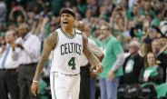 Isaiah Thomas, durante un juego entre Celtics y Wizards