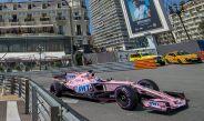 Checo realiza las pruebas en el circuito de Mónaco