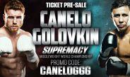 Cartel promocional para la pelea de Canelo vs Golovkin