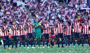 Jugadores de Chivas previo a disputar la Final del Clausura 2017
