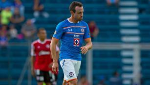 Gerardo Torrado, en un partido de Cruz Azul