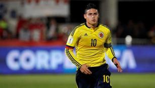 James Rodríguez durante el partido contra Chile