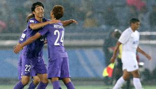 Yusuke Minagawa celebra su gol con Sanfrecce Hiroshima c7adcb25c64d1