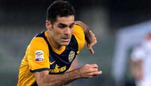 Rafael Márquez en un partido con Hellas Verona