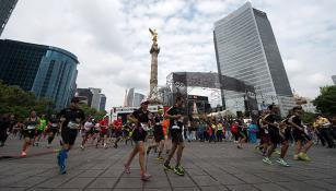 Corredores del Maratón de la Ciudad de México