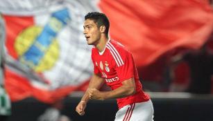 Raúl Jiménez, tras anotar con Benfica
