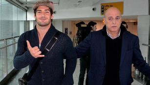 Alexandre Pato, en el aeropuerto de Londres