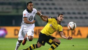 Fabián, en amistoso con Frankfurt contra el Dortmund