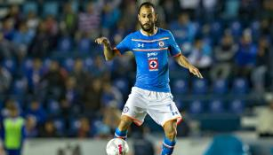 Vázquez, en un juego de Cruz Azul