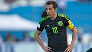 Andrés Guardado durante las eliminatorias de la Concacaf