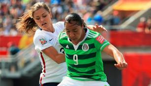 Corral, en un partido de la Selección Mexicana