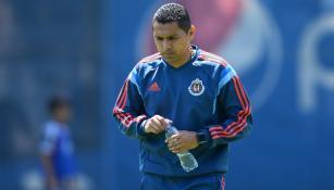Ramón Morales, en un entrenamiento con Chivas