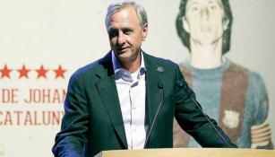 Cruyff, durante un evento en Barcelona