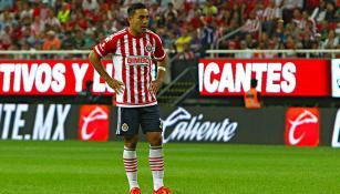 Fabián, en un partido con las Chivas