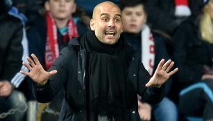 Guardiola, en un partido del Bayern Munich