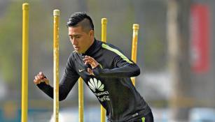 Churpias Moreno en un entrenamiento